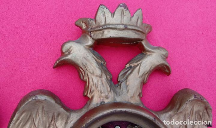 Antigüedades: PAREJA RELICARIOS SIGLO XVIII, CON RELIQUIAS DE SAN FRANCISCO SOLANO. DIM.- 25X18 CMS (BUEN TAMAÑO) - Foto 10 - 197942671