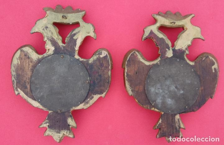 Antigüedades: PAREJA RELICARIOS SIGLO XVIII, CON RELIQUIAS DE SAN FRANCISCO SOLANO. DIM.- 25X18 CMS (BUEN TAMAÑO) - Foto 17 - 197942671