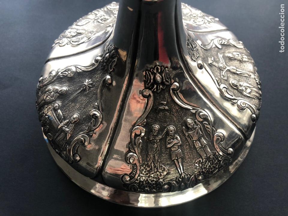 Antigüedades: Precioso cáliz con escenas religiosas de los Santos Misterios - Foto 3 - 197948015