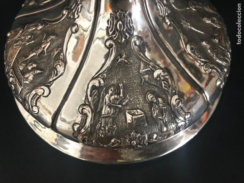 Antigüedades: Precioso cáliz con escenas religiosas de los Santos Misterios - Foto 17 - 197948015