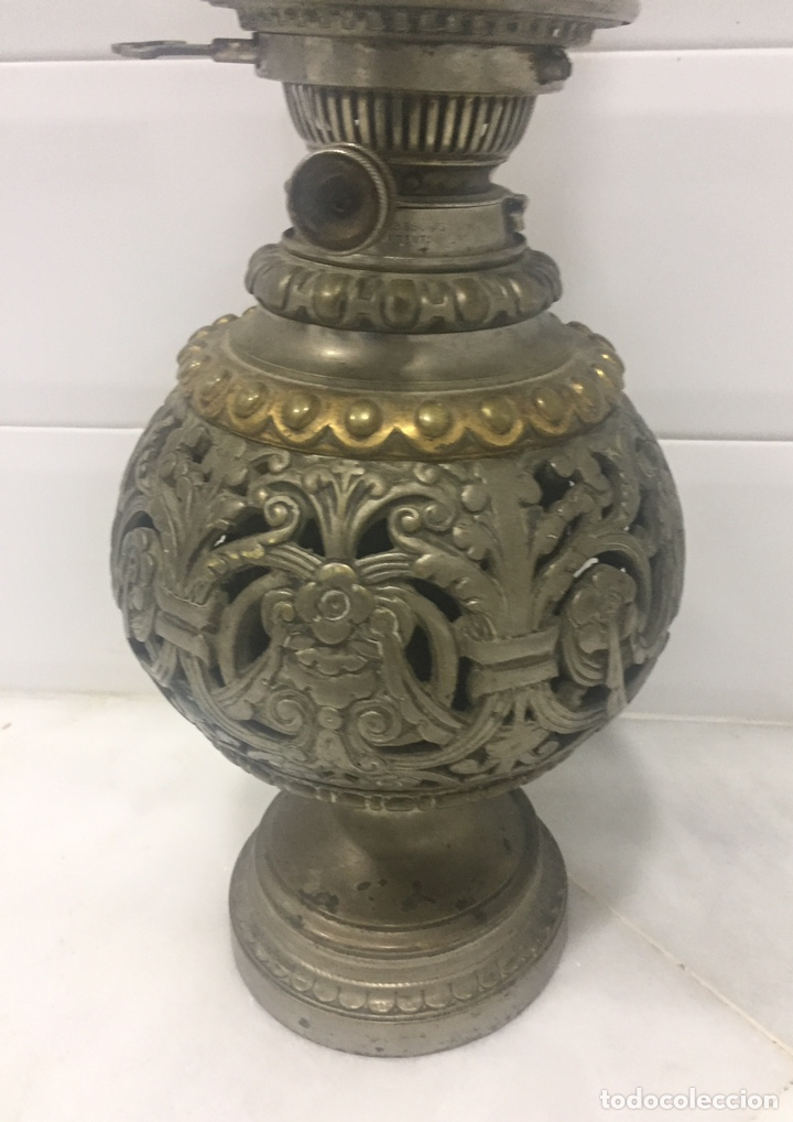 Antigüedades: ANTIGUO Y ESPECTACULAR QUINQUÉ FRANCÉS DE ACEITE SIGLO XIX - Foto 13 - 189211471