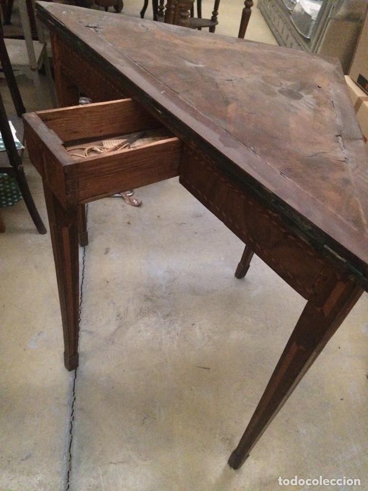 Antigüedades: Mesa de juego - Foto 2 - 197984795