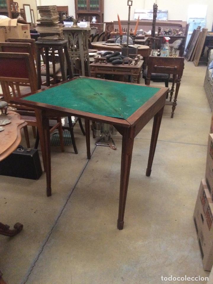 Antigüedades: Mesa de juego - Foto 4 - 197984795