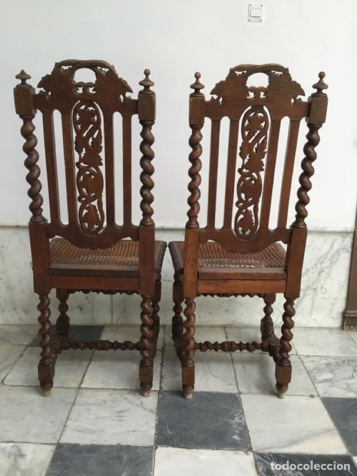 Antigüedades: Pareja de sillas estilo Luis XIII - Foto 4 - 197989878