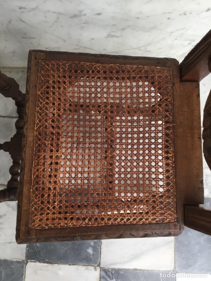 Antigüedades: Pareja de sillas estilo Luis XIII - Foto 5 - 197989878