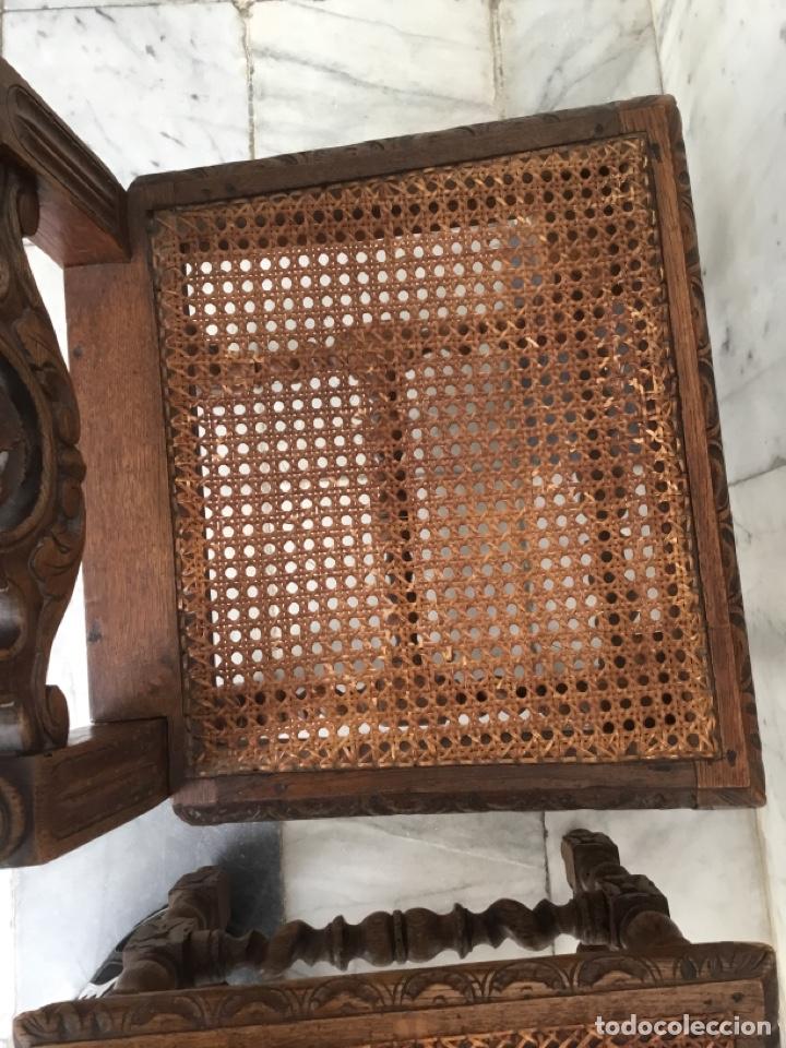 Antigüedades: Pareja de sillas estilo Luis XIII - Foto 6 - 197989878
