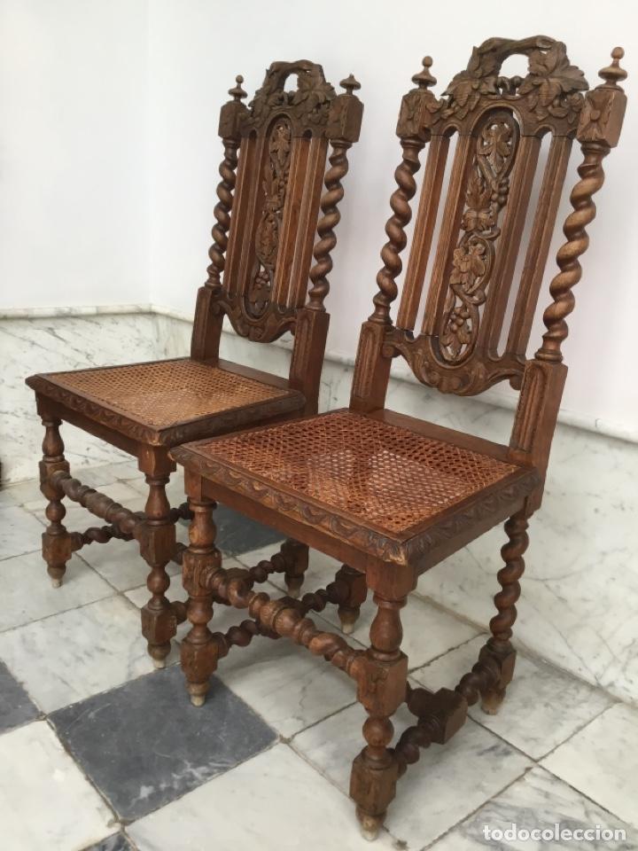 PAREJA DE SILLAS ESTILO LUIS XIII (Antigüedades - Muebles Antiguos - Sillas Antiguas)
