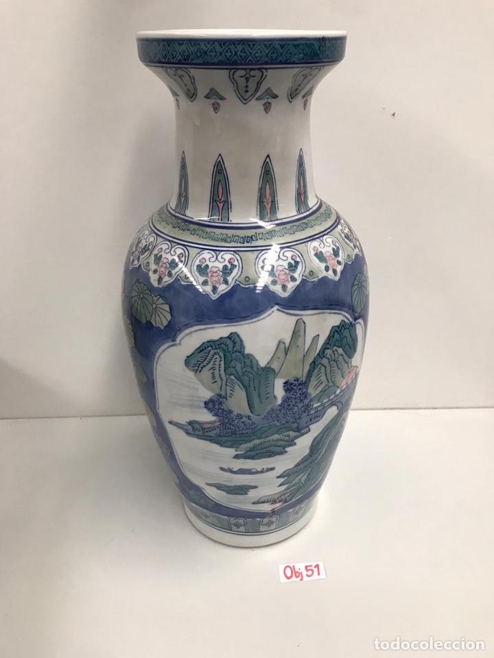 Antigüedades: Antiguo jarrón asiático con peana - Foto 2 - 198031868