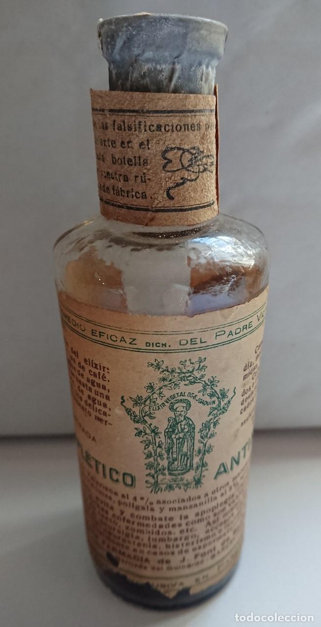 FRASCO FARMACIA. ANTIAPOPLETICO ANTINERVIOSO. PRECINTADO. (Antigüedades - Cristal y Vidrio - Farmacia )