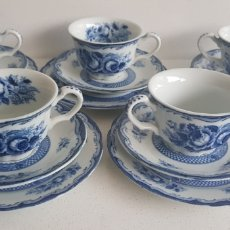 Oggetti Antichi: BLUE ROSE FINE CHINA JAPAN JUEGO DE TE. Lote 198040247
