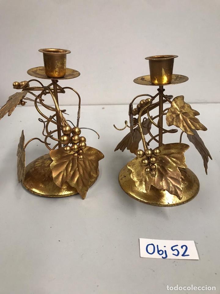ANTIGUO CANDELABROS DE LATÓN (Antigüedades - Iluminación - Candelabros Antiguos)