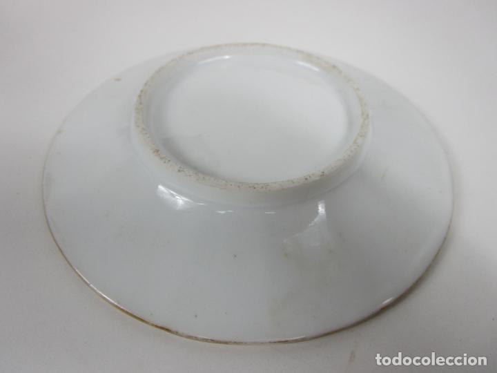 Antigüedades: Precioso Juego de Café Isabelino - Porcelana - Decorada con Pájaros y Flores - S. XIX - Foto 15 - 198077186