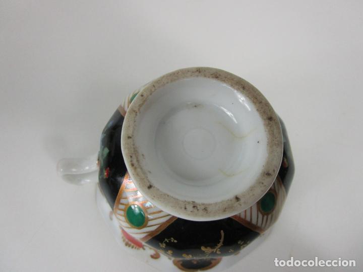 Antigüedades: Precioso Juego de Café Isabelino - Porcelana - Decorada con Pájaros y Flores - S. XIX - Foto 19 - 198077186