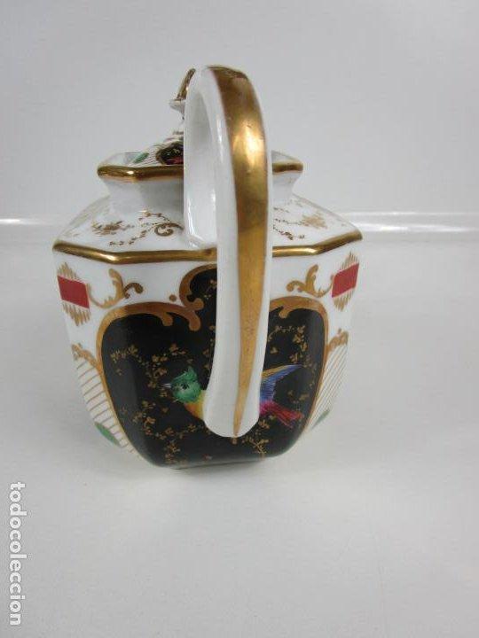 Antigüedades: Precioso Juego de Café Isabelino - Porcelana - Decorada con Pájaros y Flores - S. XIX - Foto 33 - 198077186