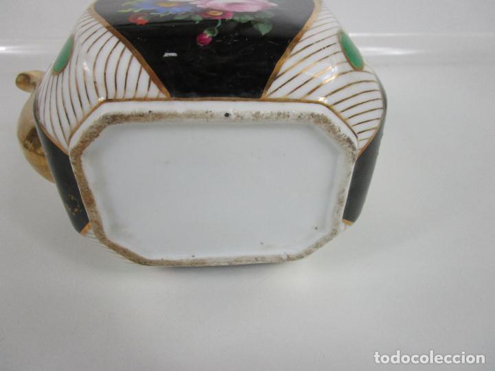 Antigüedades: Precioso Juego de Café Isabelino - Porcelana - Decorada con Pájaros y Flores - S. XIX - Foto 35 - 198077186