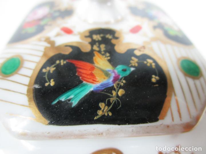Antigüedades: Precioso Juego de Café Isabelino - Porcelana - Decorada con Pájaros y Flores - S. XIX - Foto 48 - 198077186