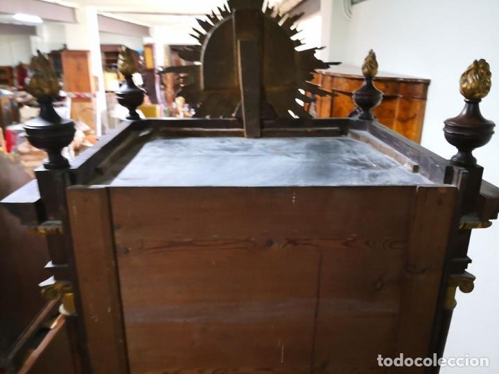 Antigüedades: CAPILLA PARA IMAGEN O VITRINA. MADERA DE CAOBA. ESTILO IMPERIO. ESPAÑA. PRINCIPIOS SIGLO XIX. - Foto 5 - 198116480