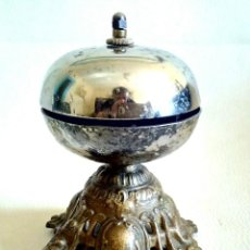 Antigüedades: RARO TIMBRE/CAMPANILLA MOSTRADOR DE GIRAR. Lote 198118912