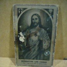 Antigüedades: SAGRADO CORAZON - BENDECIRE LAS CASAS. Lote 198137573