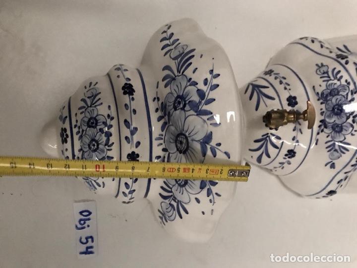 Antigüedades: Benditera en porcelana principio de siglo - Foto 6 - 198140863