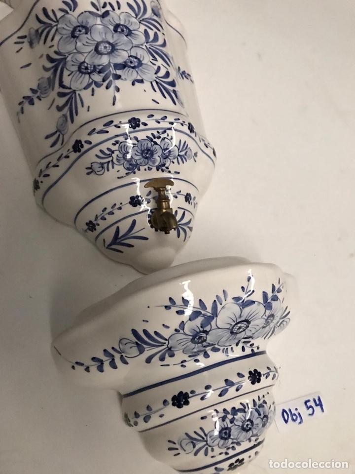 Antigüedades: Benditera en porcelana principio de siglo - Foto 11 - 198140863