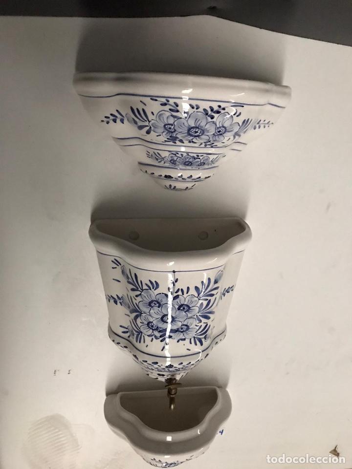 Antigüedades: Benditera en porcelana principio de siglo - Foto 12 - 198140863