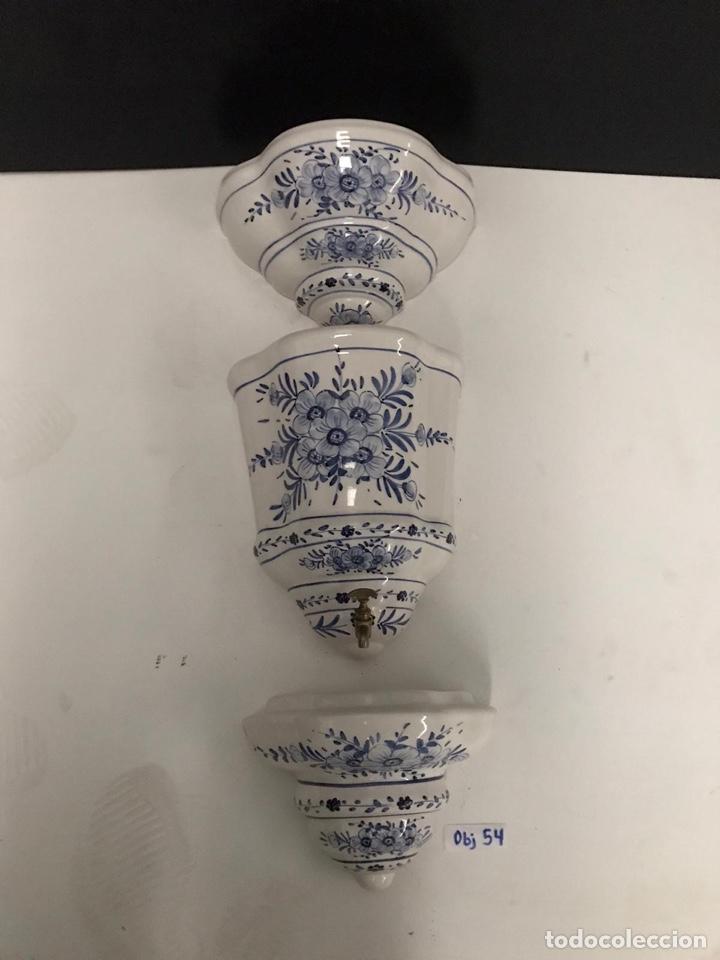 Antigüedades: Benditera en porcelana principio de siglo - Foto 13 - 198140863