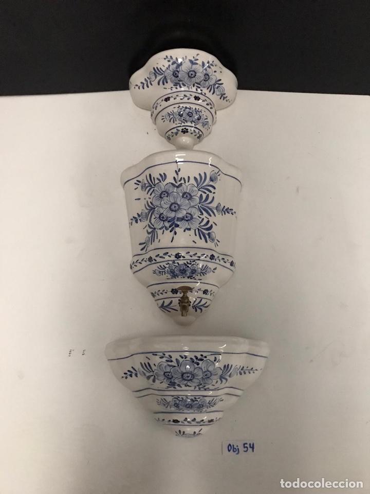 Antigüedades: Benditera en porcelana principio de siglo - Foto 14 - 198140863