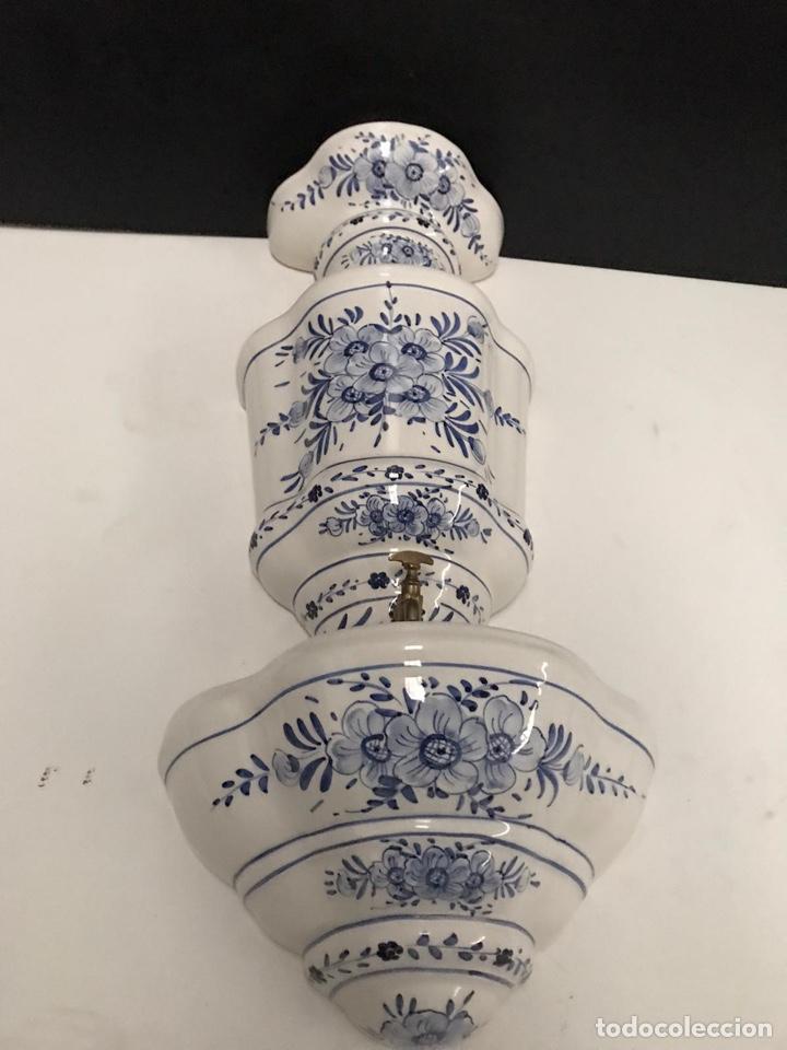 Antigüedades: Benditera en porcelana principio de siglo - Foto 15 - 198140863