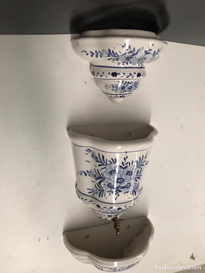 Antigüedades: Benditera en porcelana principio de siglo - Foto 16 - 198140863