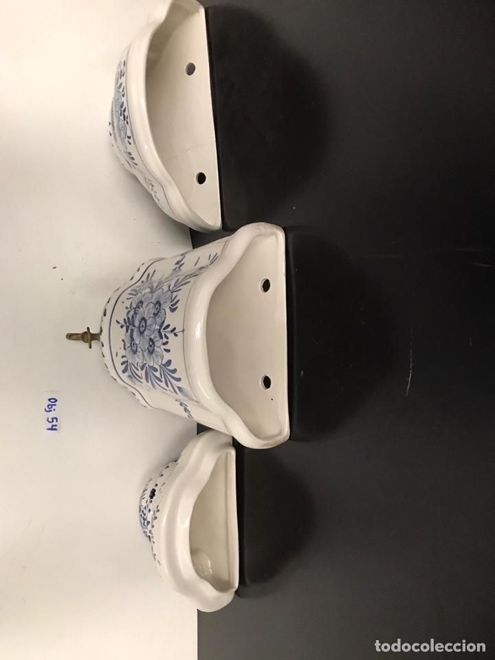 Antigüedades: Benditera en porcelana principio de siglo - Foto 21 - 198140863