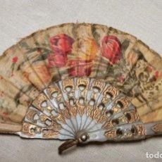 Antigüedades: ABANICO EN MINIATURA. PLÁSTICO Y TELA. ESPAÑA. AÑOS 50. Lote 198151195