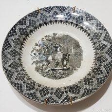 Oggetti Antichi: PLATO CERAMICA - FABRICA DE CARTAGENA CON SOPORTE PARA COLGAR PARED - 22 CM DIAMETRO - CAR177. Lote 198161267