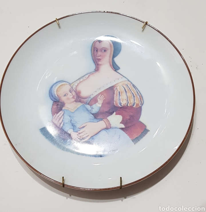 NODRIZA - PLATO CERAMICA SANTA CLARA - EDICION MILUPA - CAR177 (Antigüedades - Porcelanas y Cerámicas - Santa Clara)