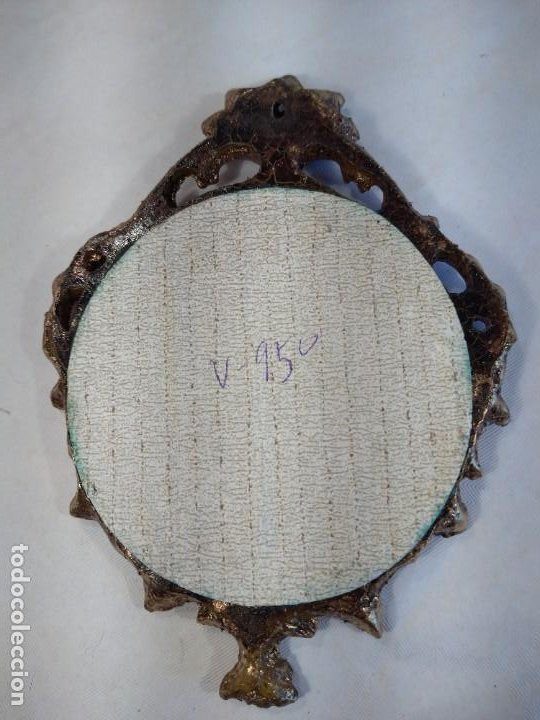 Antigüedades: PORCELANA ENMARCADA DE ESCENA GALANTE FIRMADA FRAGONARD. EL BAILE. FRANCIA. - Foto 2 - 198213841