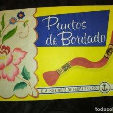 Oggetti Antichi: REVISTA PUNTOS DE BORDADO C. A HILATURAS DE FABRA Y COATS ÁLBUM N° 1 . Lote 198247351