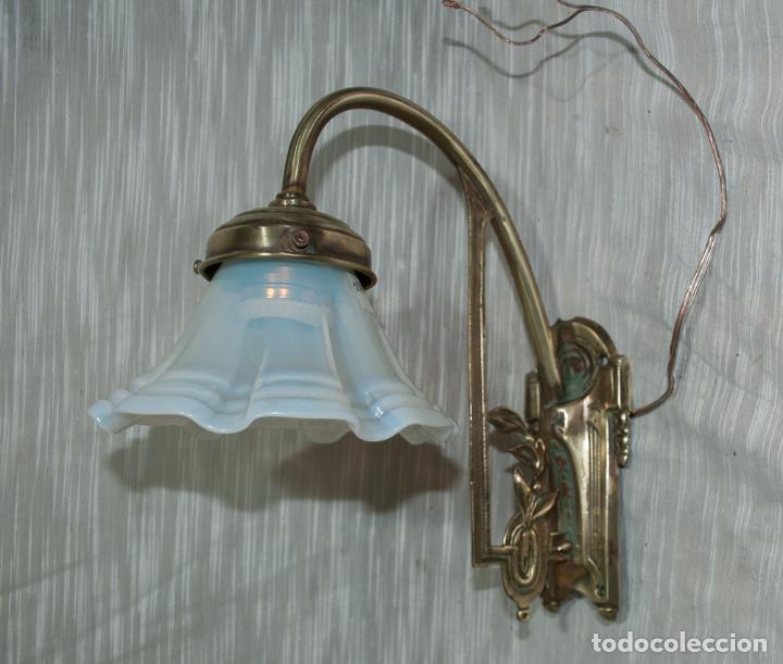 BELLO APLIQUE MODERNISTA , C.1900 (Antigüedades - Iluminación - Apliques Antiguos)