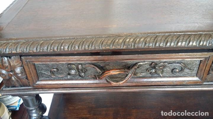 Antigüedades: Soberbia consola en madera tallada y torneada en madera noble - circa siglo XVII - Foto 4 - 198305997