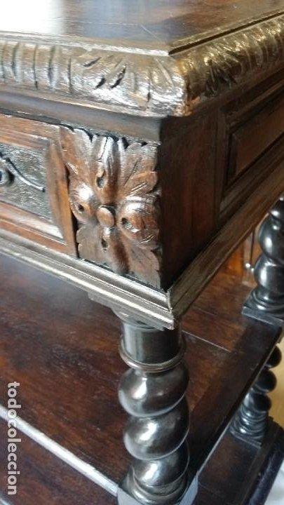 Antigüedades: Soberbia consola en madera tallada y torneada en madera noble - circa siglo XVII - Foto 10 - 198305997