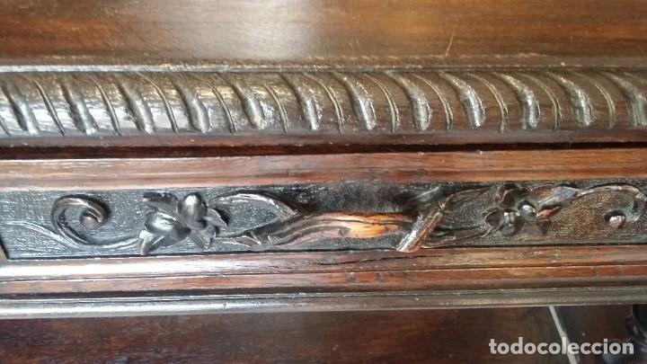 Antigüedades: Soberbia consola en madera tallada y torneada en madera noble - circa siglo XVII - Foto 8 - 198305997