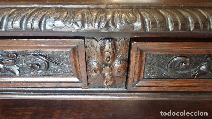 Antigüedades: Soberbia consola en madera tallada y torneada en madera noble - circa siglo XVII - Foto 6 - 198305997