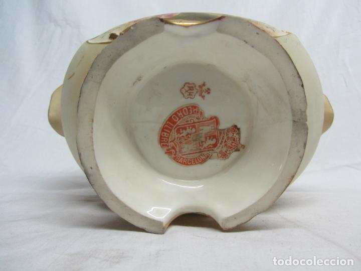 Antigüedades: Cesto de porcelana de principios s.XX marca en base - Foto 5 - 198307740