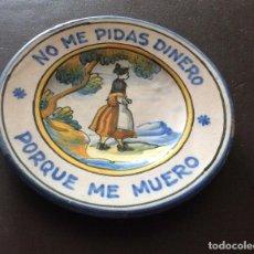 Antigüedades: ANTIGUO PLATO DE TALAVERA NIVEIRO,CON LEYENDA IDEAL COLECCIONISTAS. Lote 198312272