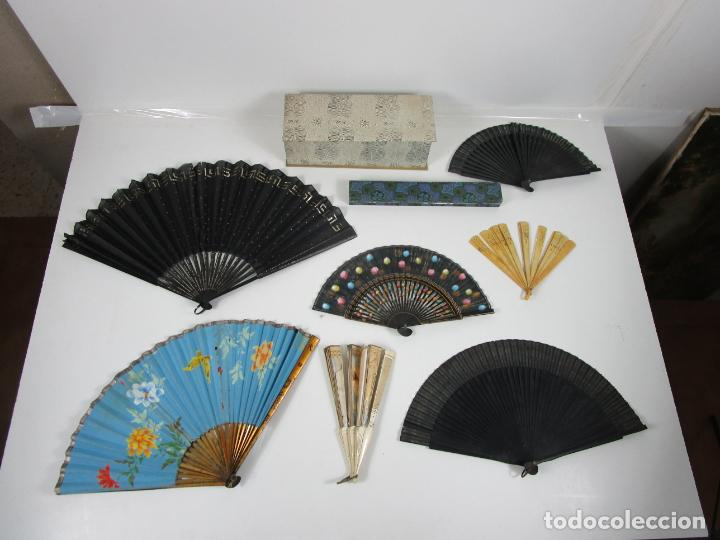Antigüedades: Lote de Abanicos - Hueso, Oriental Madera, etc - Caja y Estuche para Abanicos - para Restauración - Foto 22 - 198333237