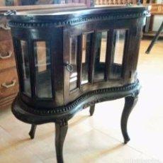 Antigüedades: MUEBLE BAR DE NOGAL. Lote 217191621