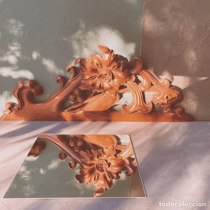 Antigüedades: Preciosa Gran Talla Floral de Madera Modernista ANTIQUE UNIQUE - Foto 2 - 162950516