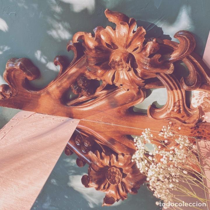 Antigüedades: Preciosa Gran Talla Floral de Madera Modernista ANTIQUE UNIQUE - Foto 4 - 162950516