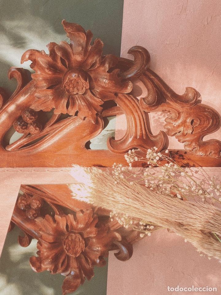 Antigüedades: Preciosa Gran Talla Floral de Madera Modernista ANTIQUE UNIQUE - Foto 5 - 162950516
