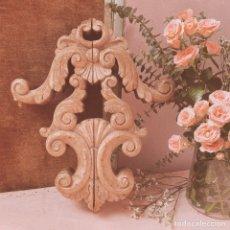 Antigüedades: PRECIOSA MOLDURA DE MADERA TALLADA ANTIQUE UNIQUE. Lote 171679927
