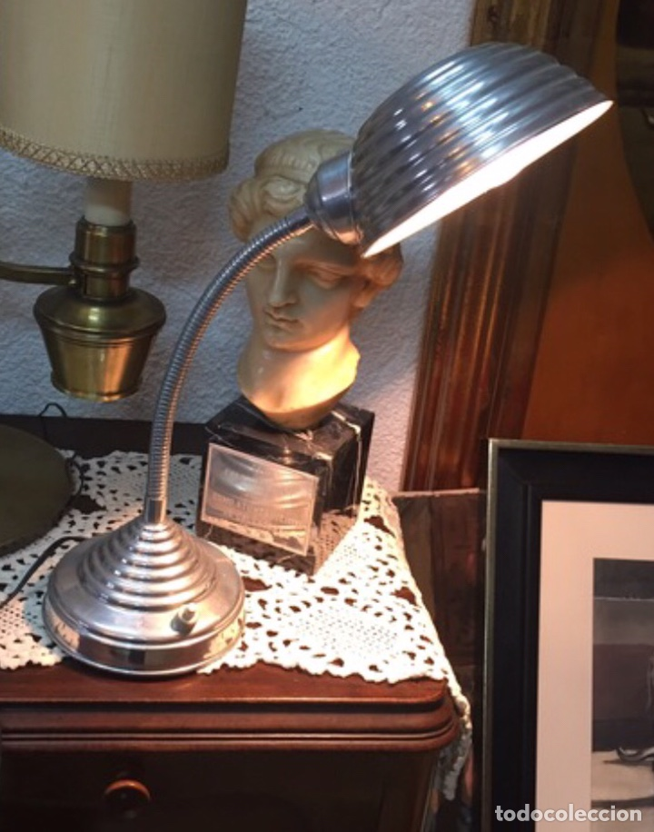 LÁMPARA FLEXO INDUSTRIAL (Antigüedades - Iluminación - Lámparas Antiguas)